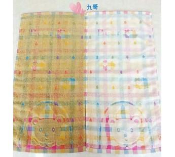 2002 Мишка в кружочке Махра 25х50 ( 20шт ) полотенце 7-Я