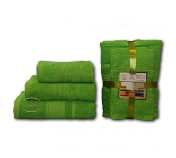 Травяной Волна (50х90х2шт+70х140х2шт) комплект полотенец AISHA