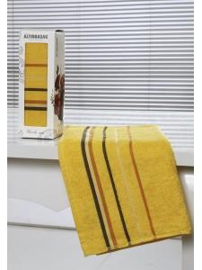 "Полотенце махровое в коробке ""ALTINBASAK"" RAINBOW (50x90) см 1/1 Желтый"