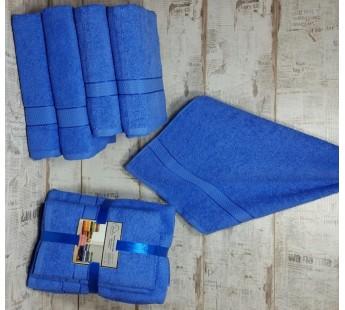 Синий Волна (50х90х2шт+70х140х2шт) комплект полотенец AISHA