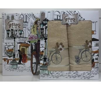 Бежевый Велосипед М ( 50х90+70х140) в коробке Атлас Текстиль
