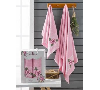 10171 Розовый ROZA (50х90+70х140 ) в коробке Набор полотенец MERZUKA