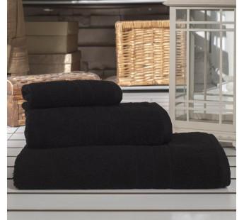 """Полотенце махровое """"KARNA"""" ARES (100x150) см 1/1 Черный"""