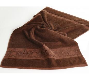 "Полотенце бамбуковое ""KARNA"" PANDORA-3 50х90 см 1/1 Темно-коричневый"