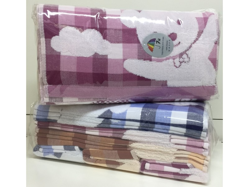 df025b4354e6 6003 Мишка в клетке Махра 34х75 ( 12шт ) полотенце 7-Я купить Детские  полотенца 7-Я в интернет-магазине Дом-Сон.Ру