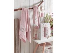 9330 Розовый ROSE (50х80+70х130 ) в коробке Набор полотенец MERZUKA