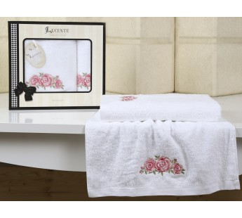 """Комплект полотенец бамбук """"LUCENTE"""" RISO 50х90-70х140 см Белый"""