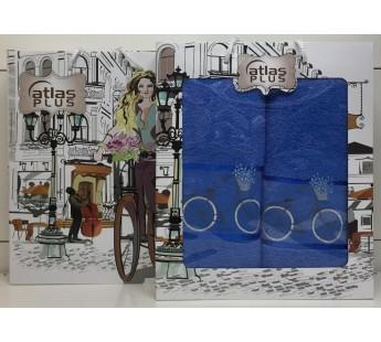 Голубой Велосипед М ( 50х90+70х140) в коробке Атлас Текстиль