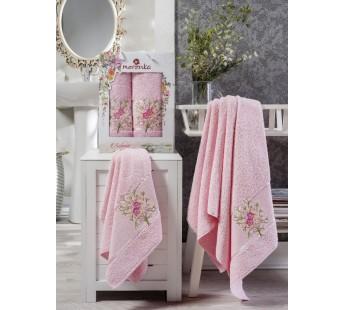 9230 Светло-розовый BOTANIK (50х80+70х130 ) в коробке Набор полотенец MERZUKA