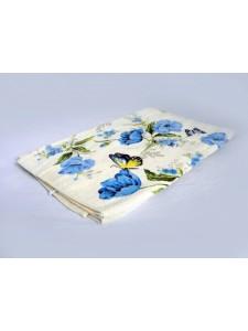 Полотенце махровое хлопковое Япония (голубой) 65x145 Махра
