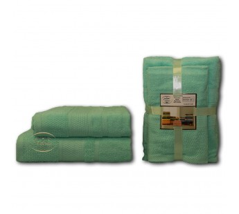 Ментол Волна (50х90х2шт+70х140х2шт) комплект полотенец AISHA