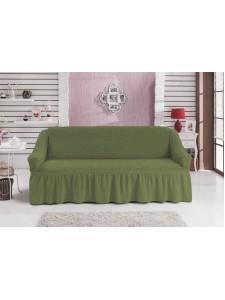 """Чехол для дивана """"BULSAN"""" двухместный Зеленый"""