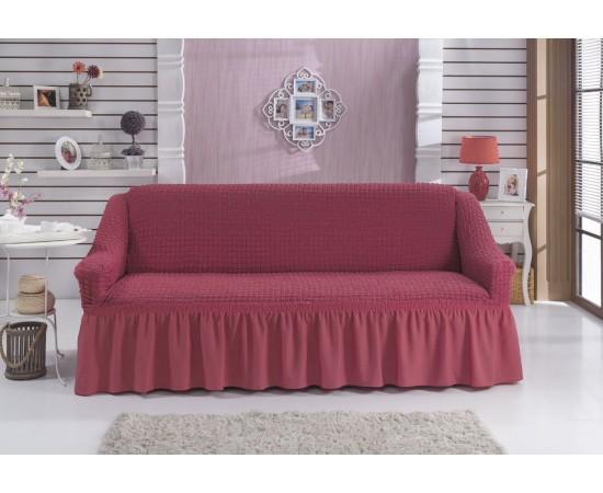 Чехол для дивана BULSAN трехместный Грязно-розовый