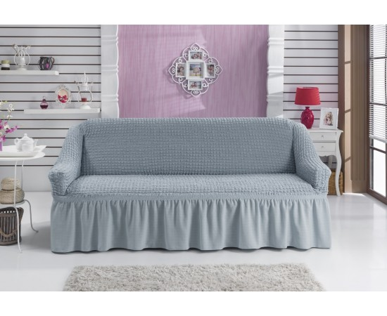 Чехол для дивана BULSAN двухместный Серый