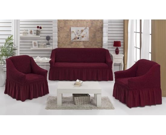 Набор чехлов дла дивана EVERY 3+1+1 Бордовый