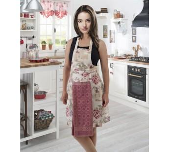"Фартук кухонный ""KARNA"" с салфеткой 30x50 Грязно-розовый"