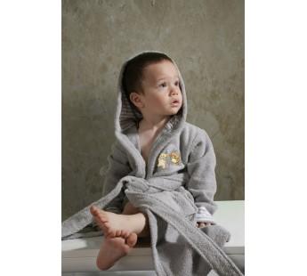 """Халат детский махровый """"KARNA"""" с капюшоном TEENY (Серый)"""