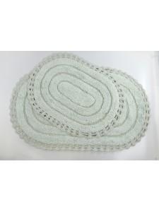 """Набор ковриков для ванной """"MODALIN"""" кружевной YANA 60x100 + 50x70 см 1/2 Ментол"""