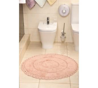 """Коврик для ванной """"MODALIN"""" круж. круглый ORVA 80x80 см 1/1 Абрикосовый"""