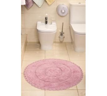 "Коврик для ванной ""MODALIN"" круж. круглый ORVA 80x80 см 1/1 Пудра"