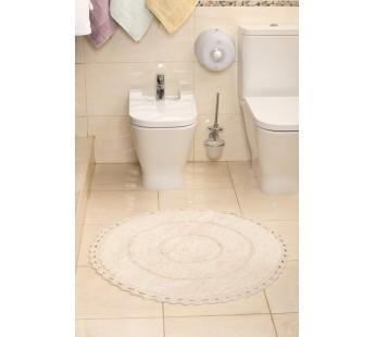 """Коврик для ванной """"MODALIN"""" круж. круглый ORVA 80x80 см 1/1 Кремовый"""