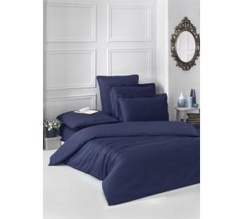 Постельное белье cатин ЛОФТ(Евро)Темно-Синий