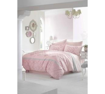 """Постельное белье """"ALTINBASAK"""" ALONA Сатин (200x220) Турция Розовый"""