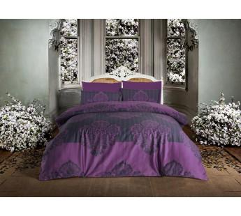 """Постельное белье """"ALTINBASAK"""" BAROK Сатин (200x220) Турция Фиолетовый"""