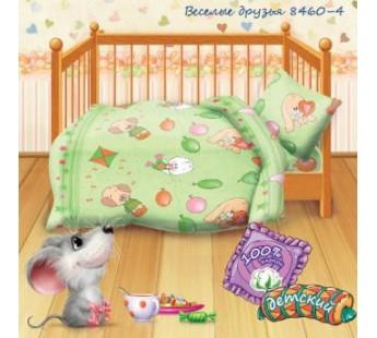 """Веселые друзья вид 4 Кошки-мышки """" КПБ детский бязь рис. 8460-4 249347"""