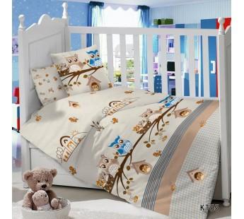 CДA-10-004/KT-55 Совы КПБ Детский в кроватку Сатин АльВиТек