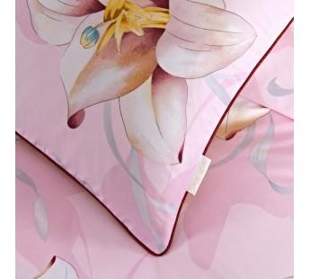 Лилия (розовая) КПБ сатин Евро 4н