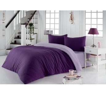 Постельное белье трикотажное Фиолетовый-Светло-лаванда