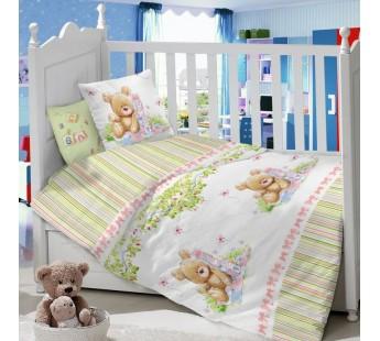 CДA-10-005/KT-55А Мишка с кубиками КПБ Детский в кроватку Сатин АльВиТек