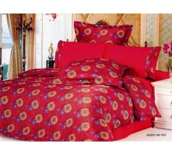 Постельное белье LE VELE сатин жатый шелк ARGENTINA 200x220 Красный