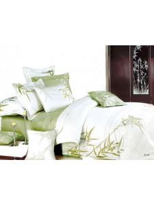 Постельное белье сатин с вышивкой D- 57 КПБ евро Сайлид