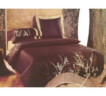Постельное белье сатин с вышивкой D- 32 КПБ семейный Сайлид