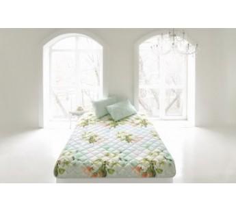 """Комплект ( 1 подушка, одеяло-покрывало) """"Яркие цветы"""" 160х210 Natures (Натурес)"""