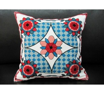 Декоративная наволочка 45*45 лен с вышивкой 230-27