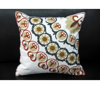 Декоративная наволочка 45*45 лен с вышивкой 230-25