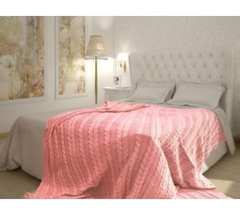 SV h1 PI Розовый Вязаный 180х210 плед Buenas Noches