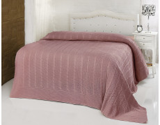 "Плед вязаный ""KARNA"" SILVIA (220x240) см Грязно-розовый"