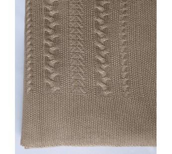 Плед вязаный Коса (свиток) 150x200 Вальтери Шерсть