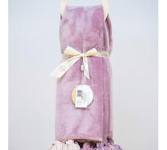 Плед 220х240 велсофт TESS-1 фиолет