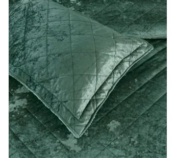 Покрывало бархат 230х250 AMALIA изумруд