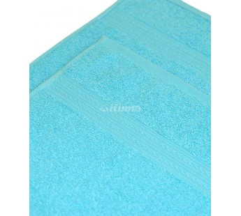Светло-голубая 180х210 Простыня Махровая ITUMA
