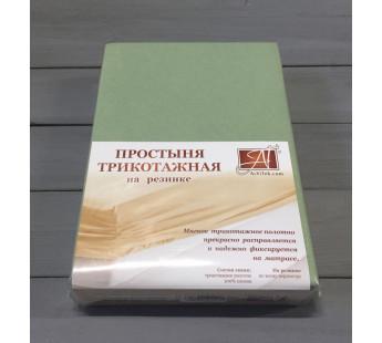 ПТР-ОЛ-160 Оливковый простыня трикотажная на резинке 160х200х20
