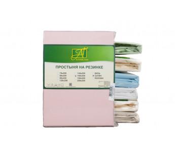 ПР-СО-Р-140-РОЗ Розовая простыня Сатин однотонный на резинке 140х200х25