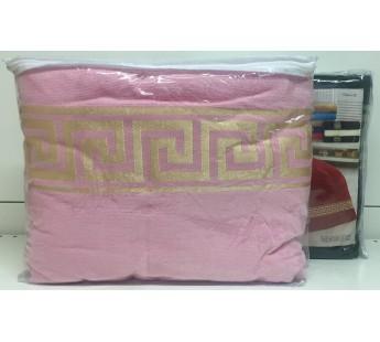Грек Розовый 160х220 ( 1шт ) Простыня ВМ 450гр Атлас