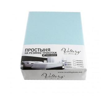 Простынь на резинке трикотажная (PT бирюзовый) 160x200 Вальтери