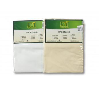 ПР-СЖ-Р-180(180)-КРЕМ Кремовая простыня Сатин Жаккард на резинке 180х200х25